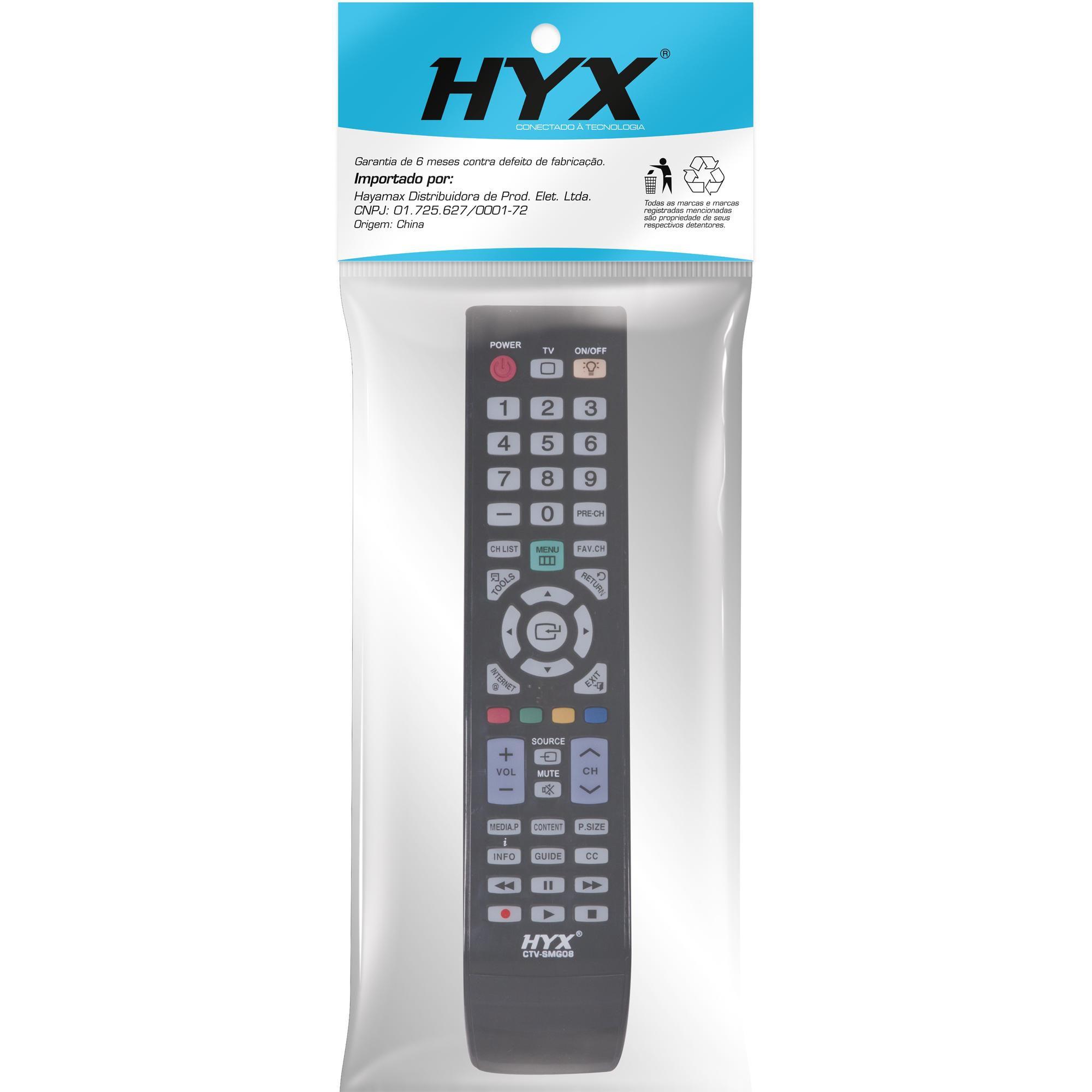 Controle Remoto para TV LCD SAMSUNG CTV-SMG08 Preto HYX