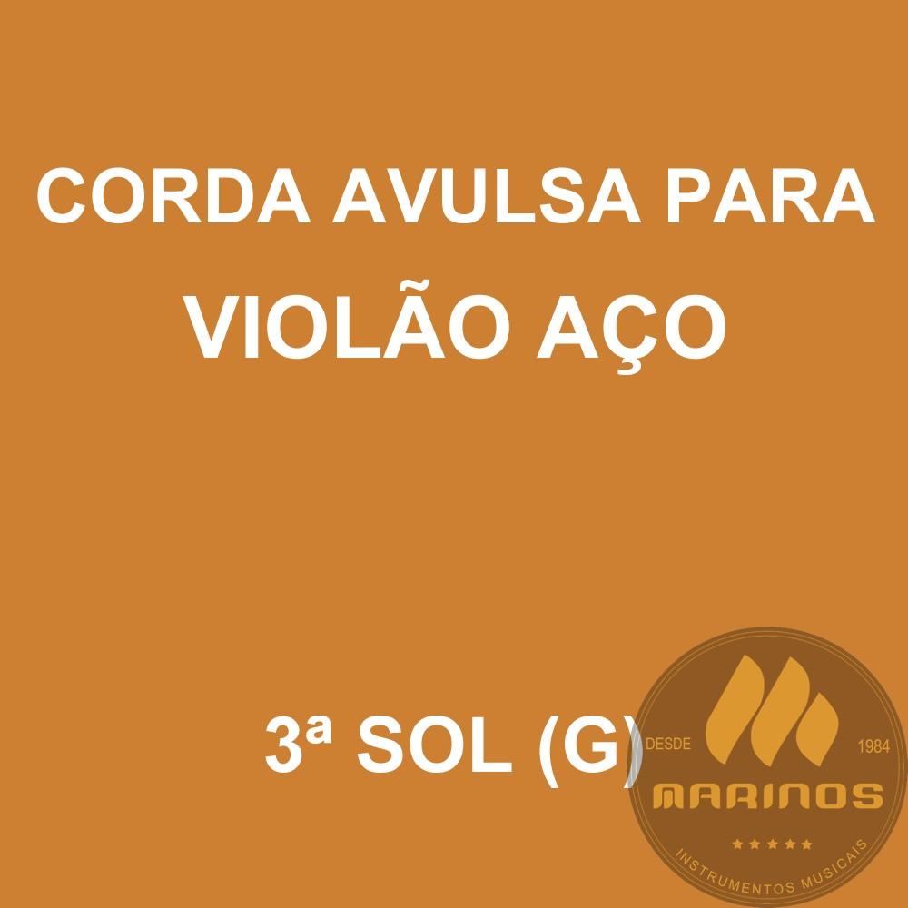Corda Avulsa para Violão Aço 3ª SOL (G) GNR