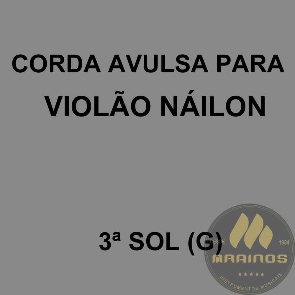 Corda Avulsa para Violão Náilon 3ª SOL (G) GNR