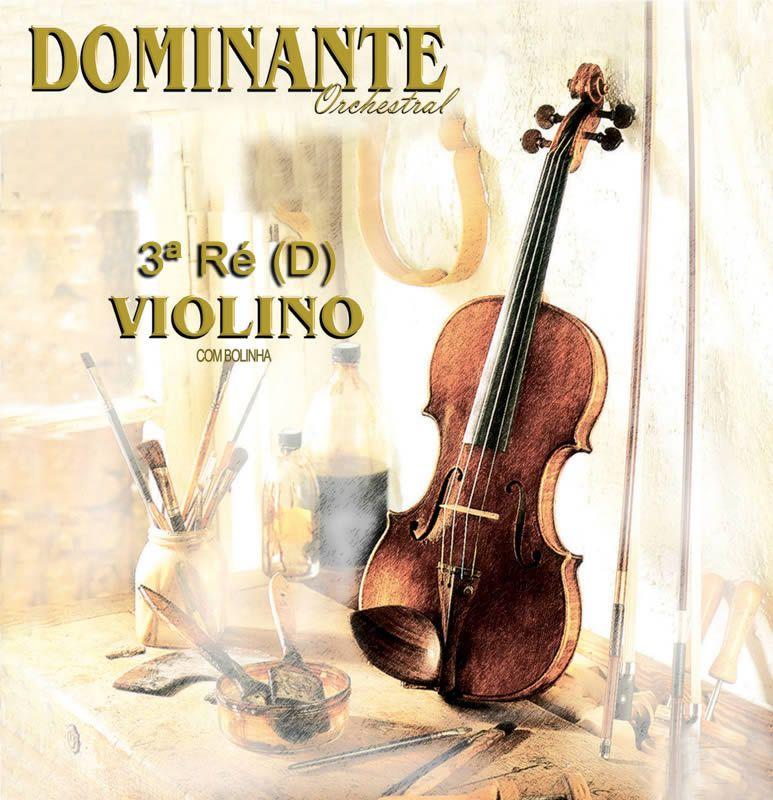 Corda Avulsa para Violino 3ª Ré (D) DOMINANTE