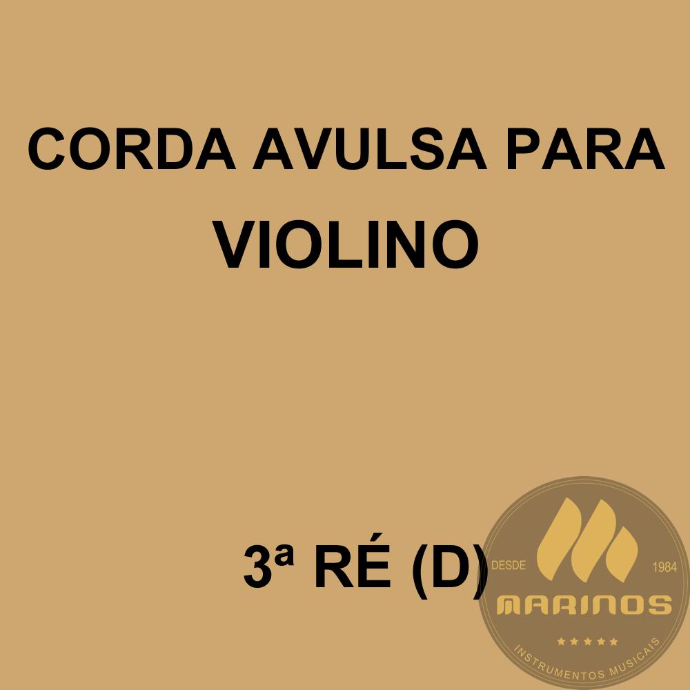 Corda Avulsa para Violino 3ª RÉ (D) GNR