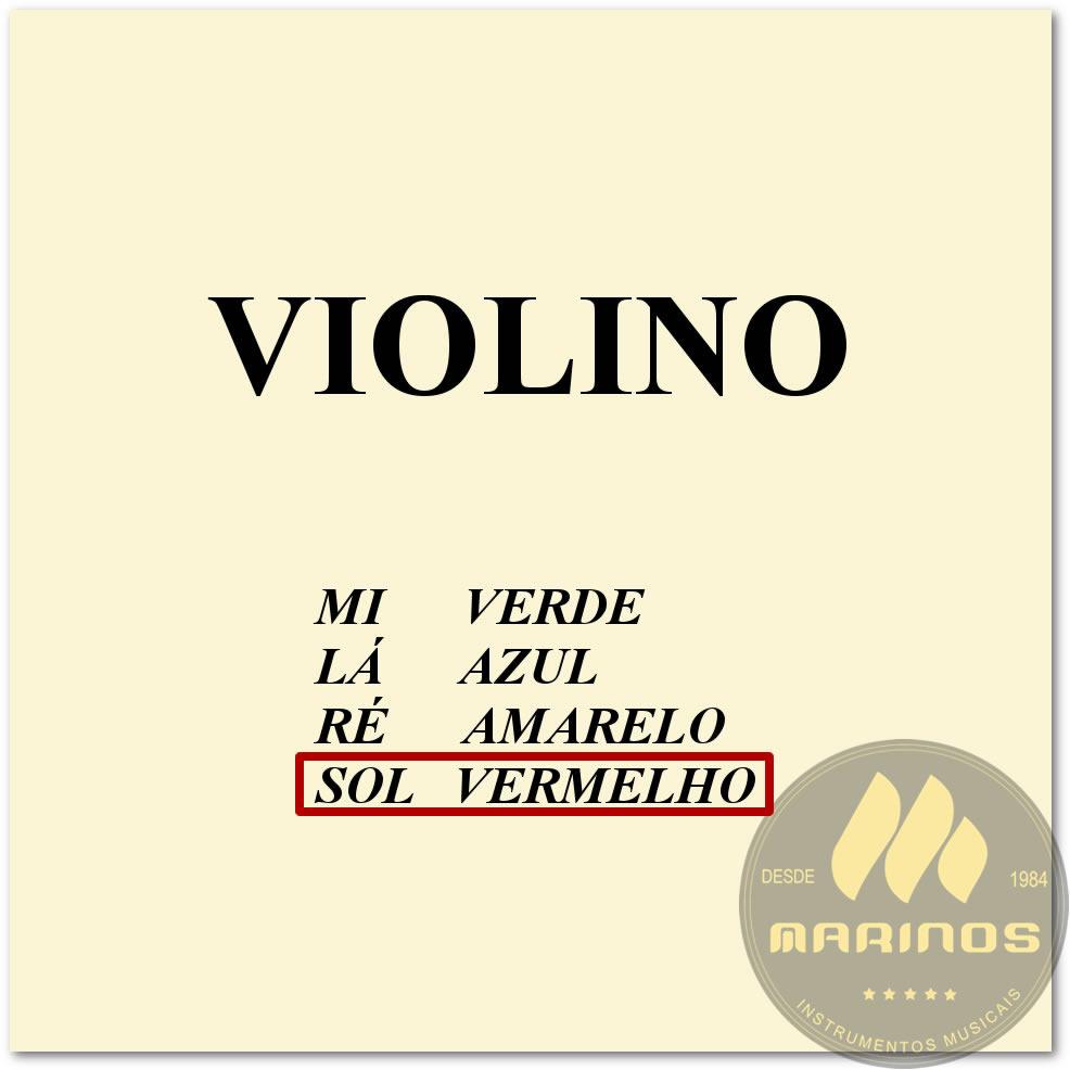 Corda Avulsa Para Violino 4ª SOL (G) MAURO CALIXTO