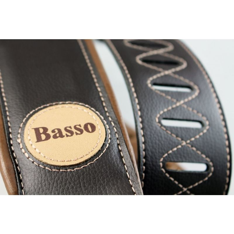 Correia BASSO Couro 7.5 cm CLASSIC CLA14 Marrom