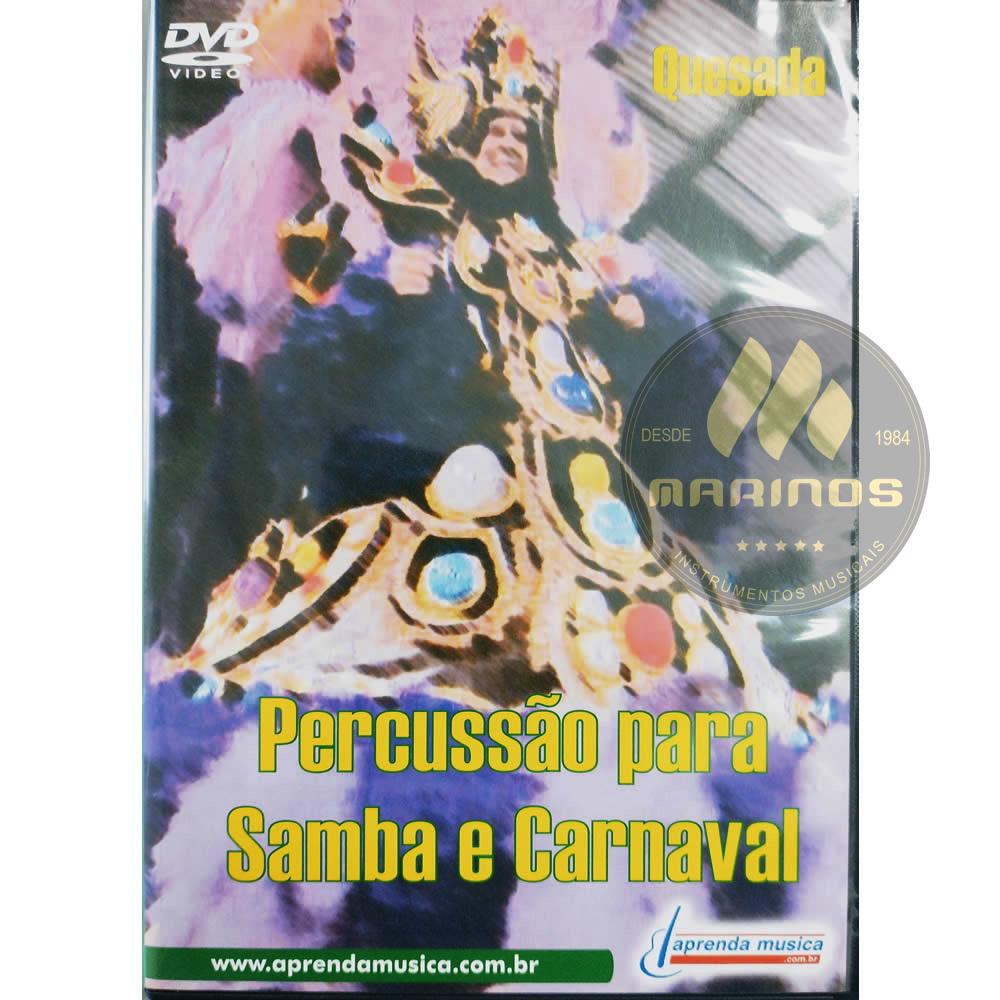 DVD Percussão para Samba e Carnaval - Quesada