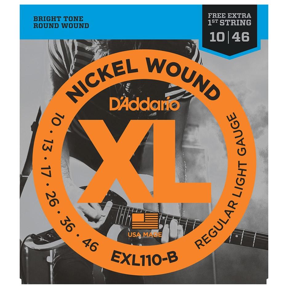 Encordoamento DADDARIO Guitarra 010 EXL110-B Regular Light