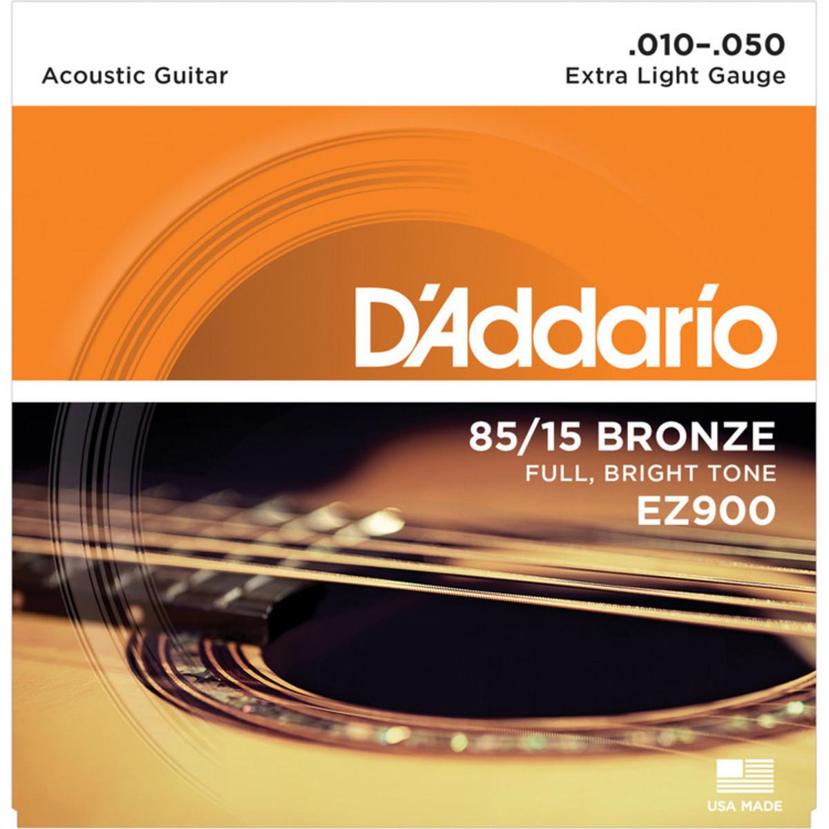 Encordoamento DADDARIO Violão Aço 010 EZ900-B Extra Light Gauge