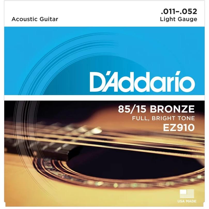 Encordoamento DADDARIO Violão Aço 011 EZ910-B Light Gauge