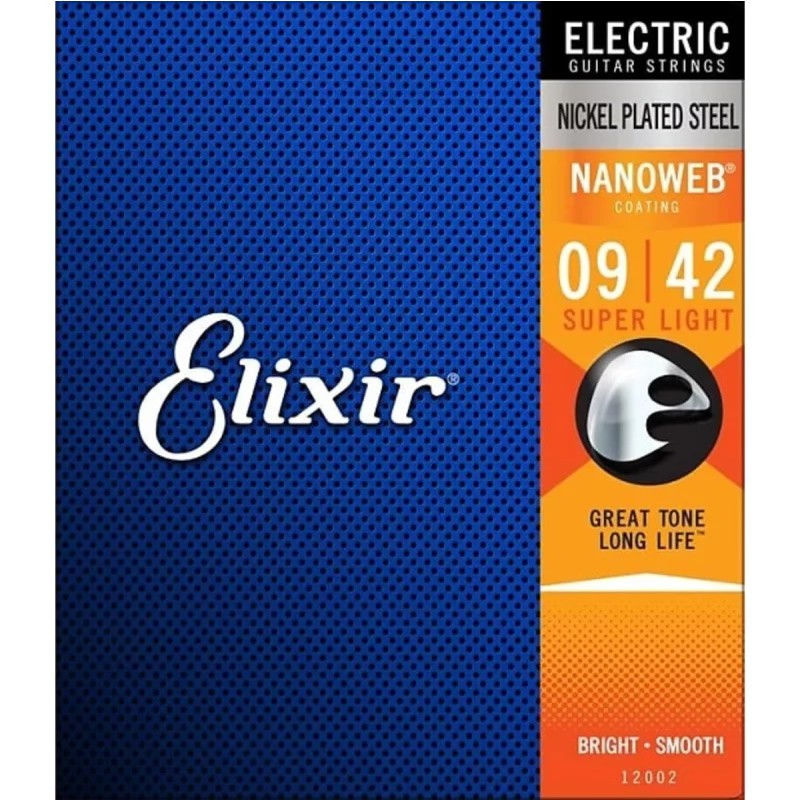 Encordoamento ELIXIR Guitarra 009 Super Light 12002