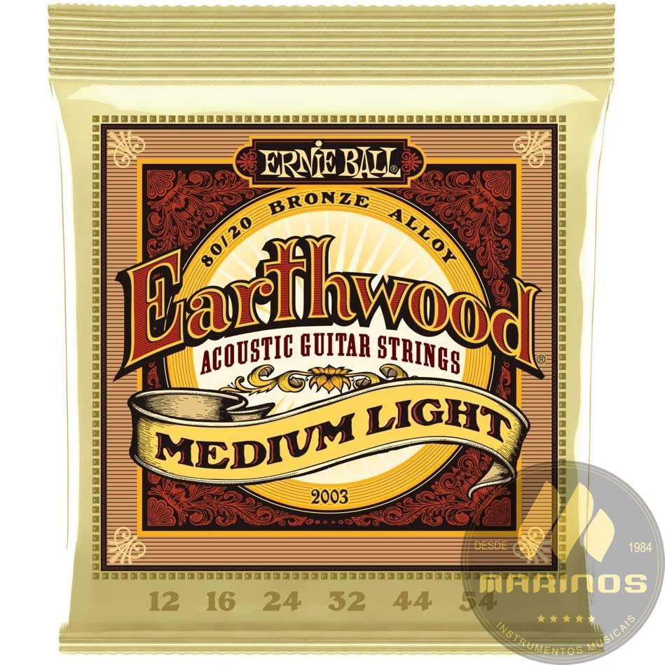 Encordoamento ERNIE BALL Violão Aço Bronze 012 EARTHWOOD P02003