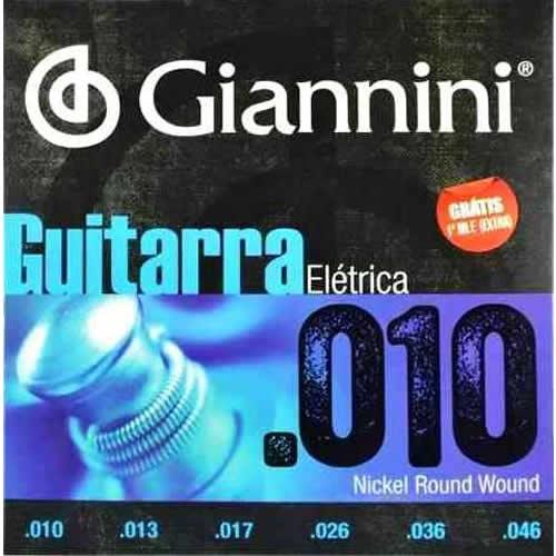 Encordoamento GIANNINI Guitarra 010 GEEGST10