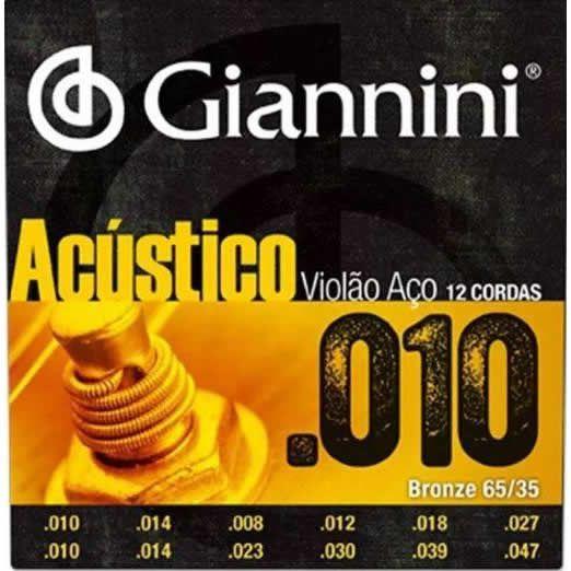 Encordoamento GIANNINI Violão 12 Cordas GESWA12