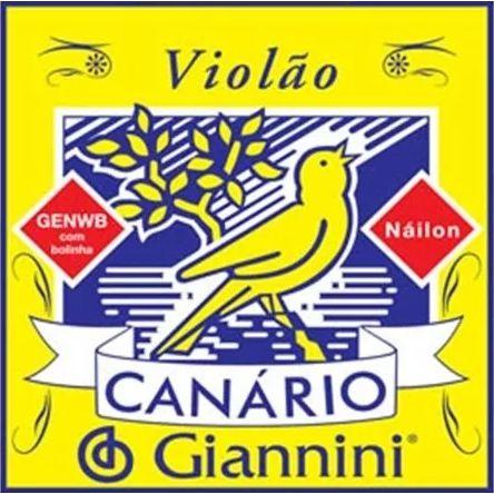 Encordoamento GIANNINI Violão Náilon CANÁRIO Médio GENWB