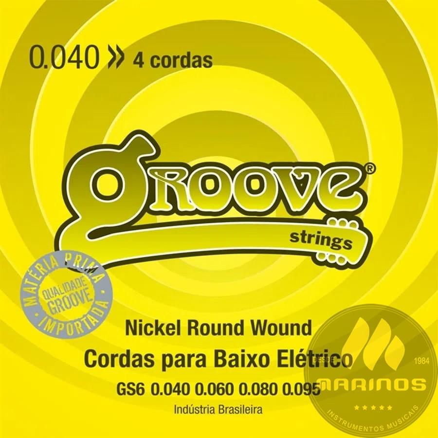 Encordoamento GROOVE Contrabaixo 4 Cordas 040 GS6