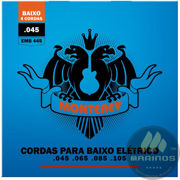 Encordoamento MONTEREY Contrabaixo 4 Cordas 045 EMB445