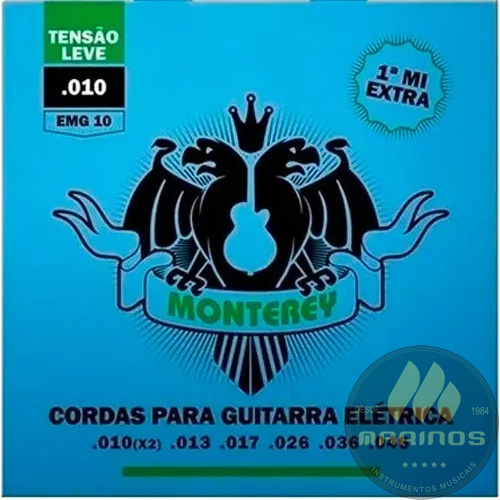 Encordoamento MONTEREY Guitarra 010 EMG10