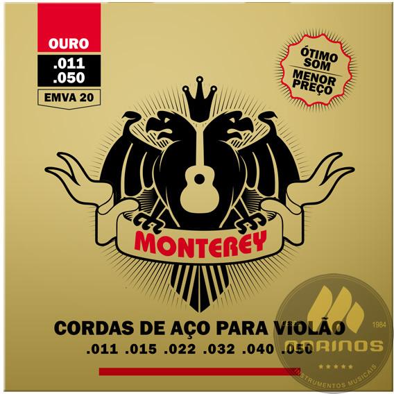 Encordoamento MONTEREY Violão Aço 011 EMVA20 Ouro