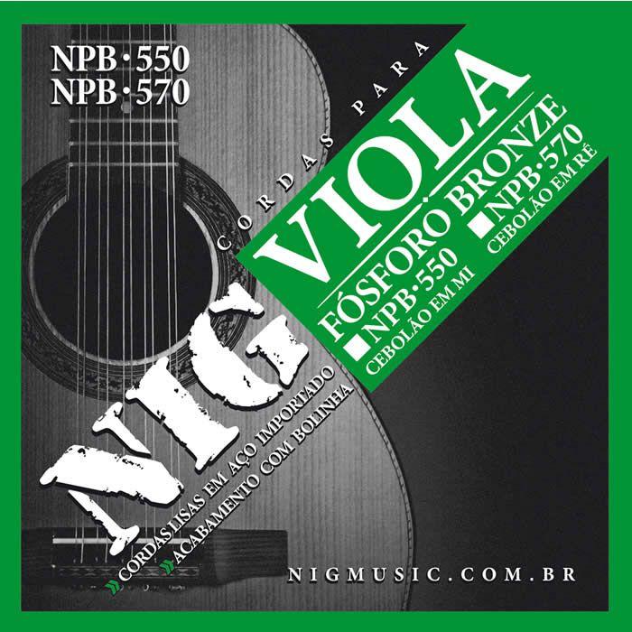 Encordoamento NIG Viola Caipira Cebolão em RÉ NPB570