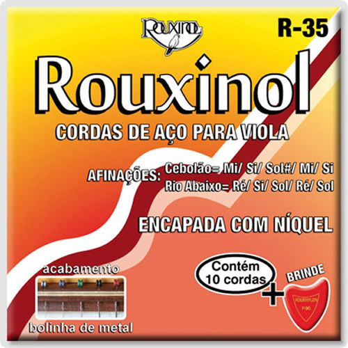 Encordoamento ROUXINOL Viola Caipira Maxima R35