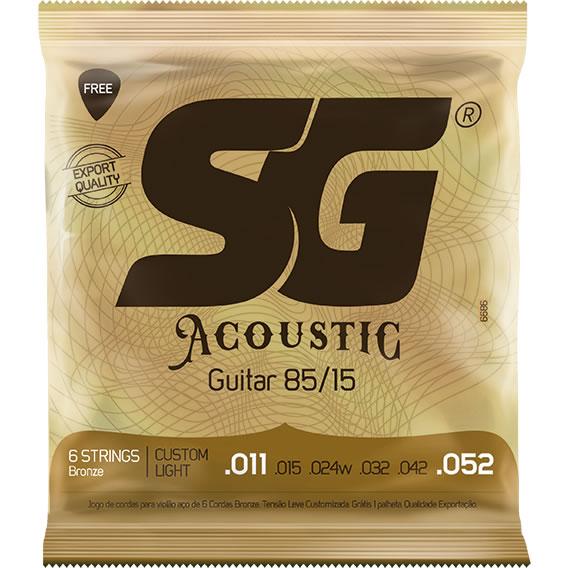 Encordoamento SG Violão Aço Bronze 011 SG6686