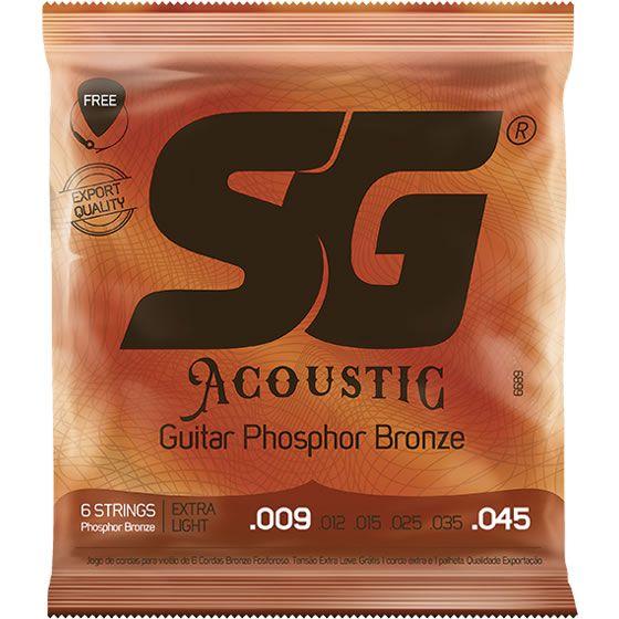 Encordoamento SG Violão Aço Fósforo/Bronze 009 SG6689