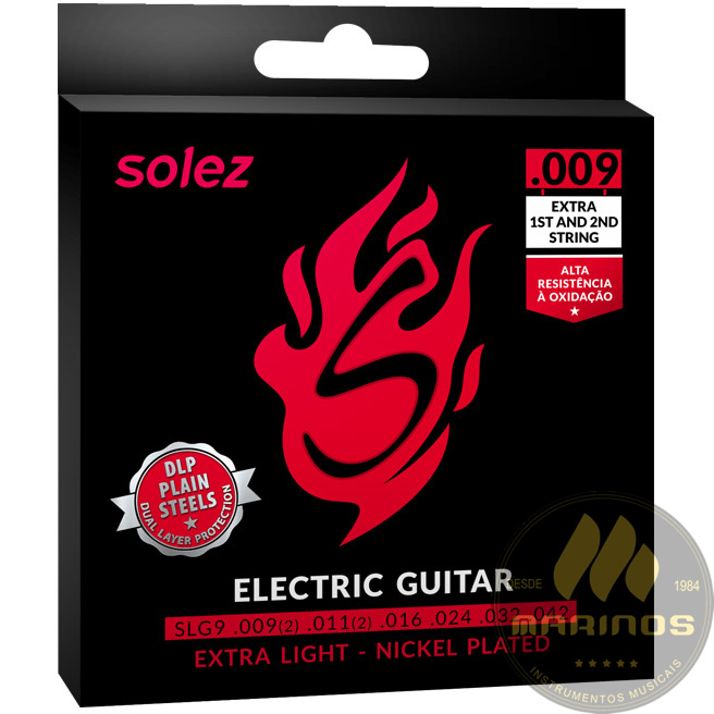 Encordoamento SOLEZ Guitarra 009 SLG9 GA