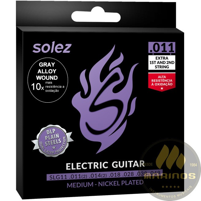 Encordoamento SOLEZ Guitarra 011 SLG11 GA