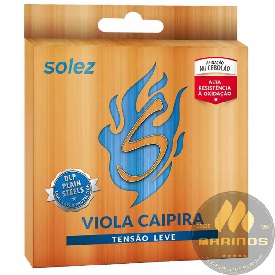 Encordoamento SOLEZ Viola Caipira Tensão Leve SLVC TL