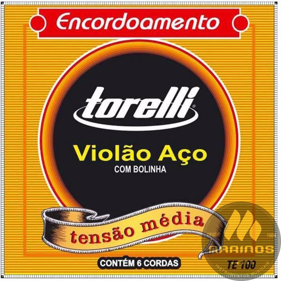 Encordoamento TORELLI Violão Aço 011 TE100 Bolinha
