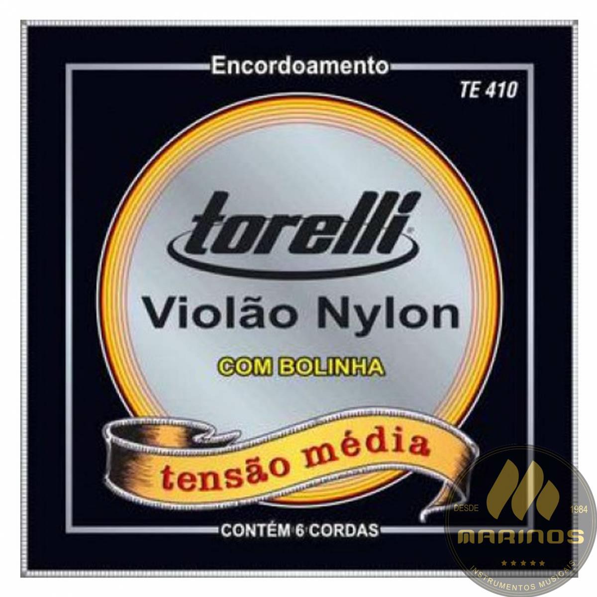 Encordoamento TORELLI Violão Náilon Média TE410 Bolinha