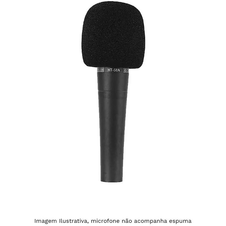 Espuma GNR Microfone Padrão Preta