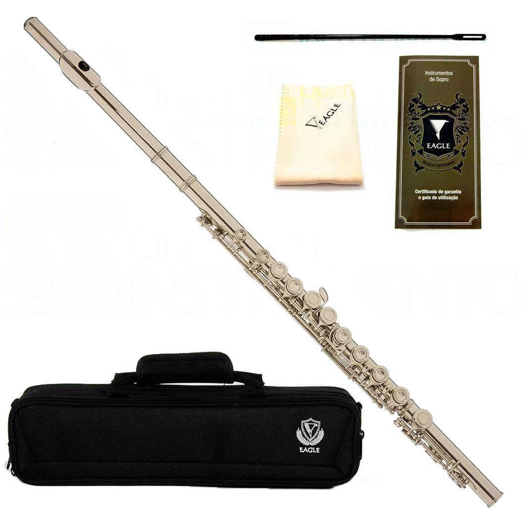 Flauta Transversal EAGLE Dó FL03 N Niquelada