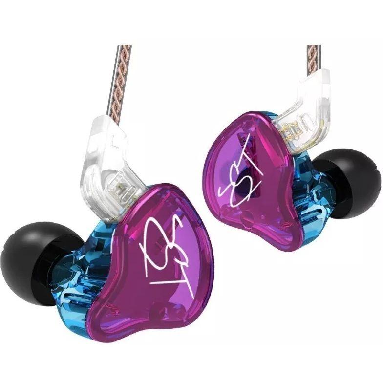 Fone de Ouvido KZ In Ear Monitor Palco ZST ROSA