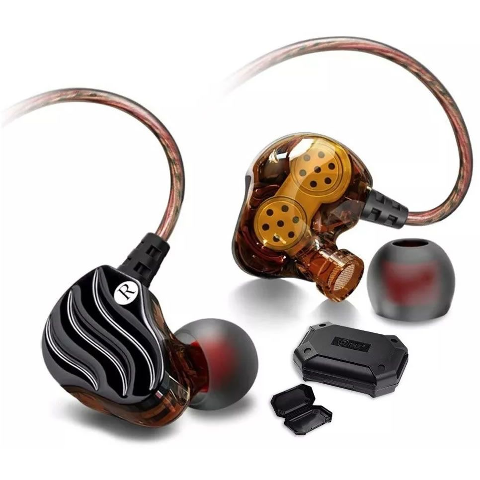 Fone de Ouvido QKZ In Ear Monitor Palco KD4 Case