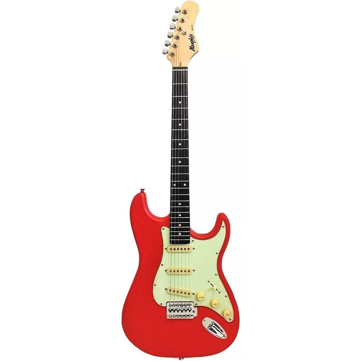 Guitarra MEMPHIS Tagima MG 30 FRS Fiesta Red Satin Escudo MG Mintgreen
