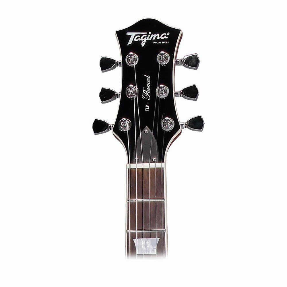 Guitarra TAGIMA TLP Flamed TR Vermelho Transparente Com Case