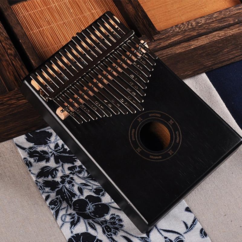 Kalimba BECKER 17 Chaves Piano de Dedo Africano Mahogany