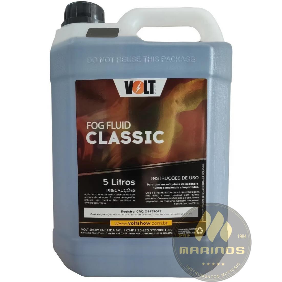 Líquido Fluído VOLT Máquina De Fumaça 5 LITROS CLASSIC NEUTRO