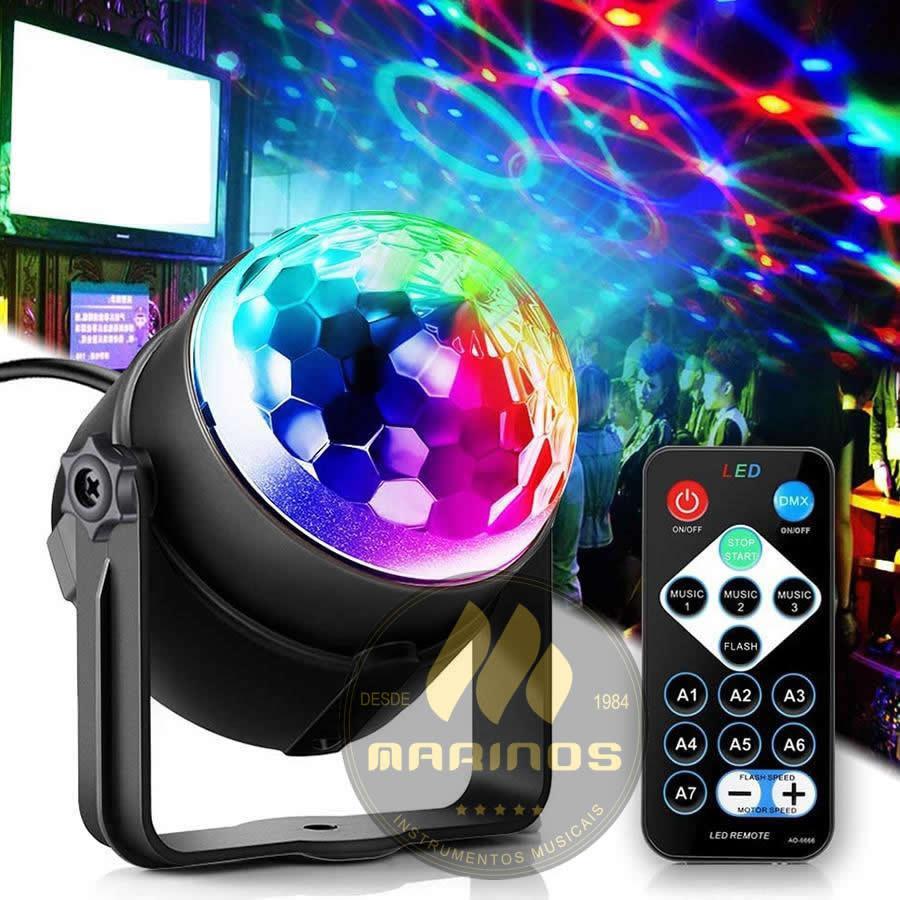 Meia bola de Led MLIGHT Strobo RGB USB Com controle Remoto XLA
