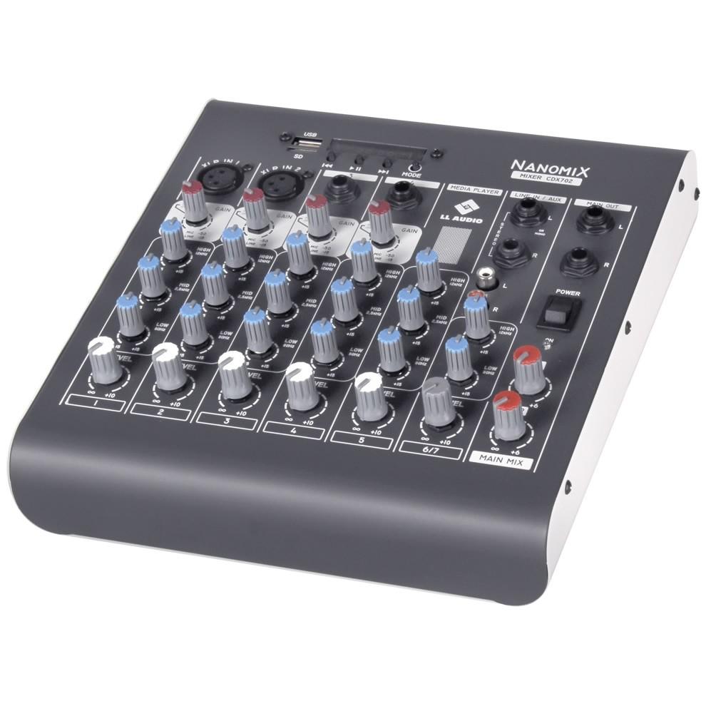 Mesa de Som LL AUDIO 6 Canais NANOMIX CDX702R