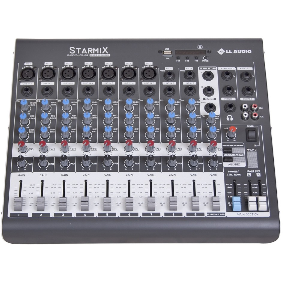 Mesa de Som LL AUDIO STARMIX 10 Canais XMS1002D