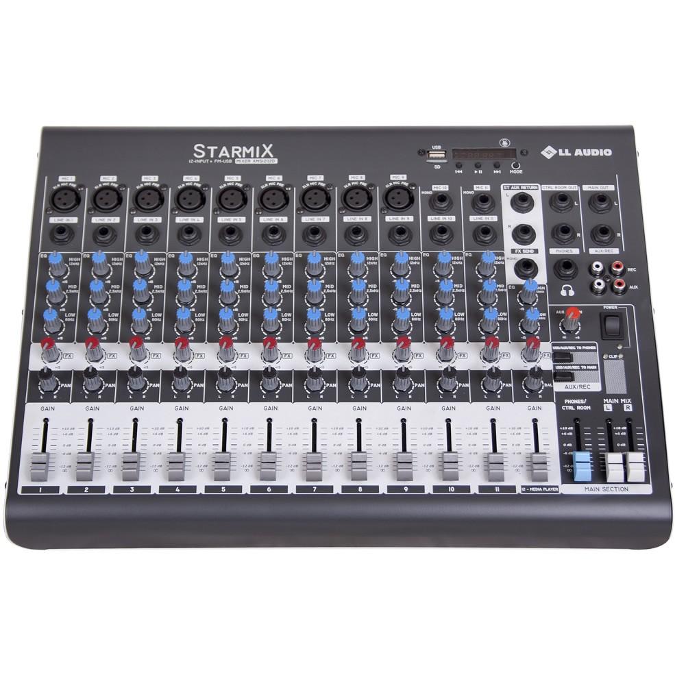 Mesa de Som LL AUDIO STARMIX 12 Canais XMS1202D
