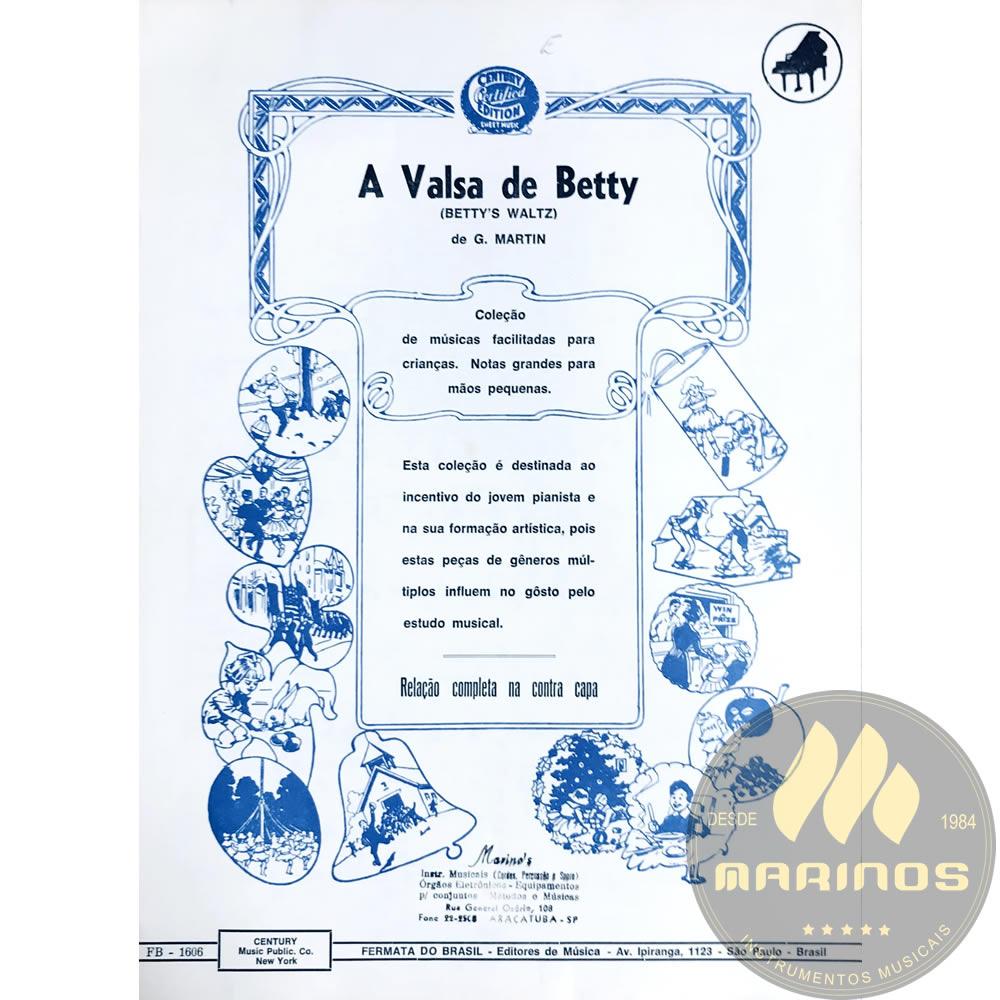 Método Partitura Piano - A Valsa De Betty - G. Martin