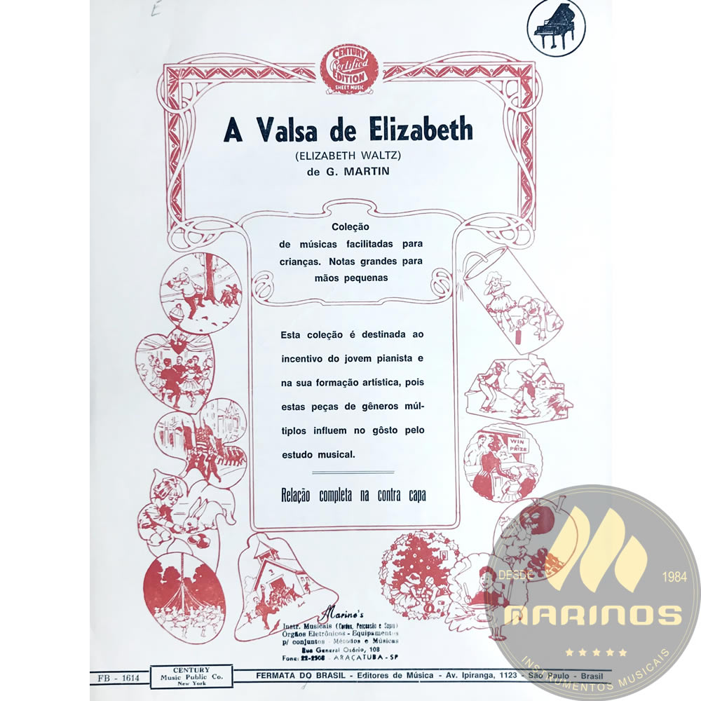 Método Partitura Piano - A VALSA DE ELIZABETH - G. Martin