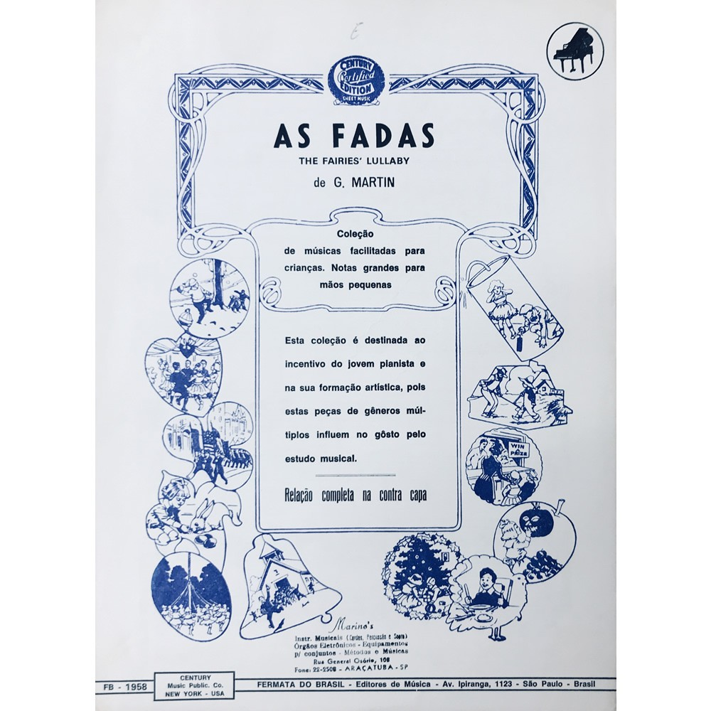Método Partitura Piano - AS FADAS - G. Martin