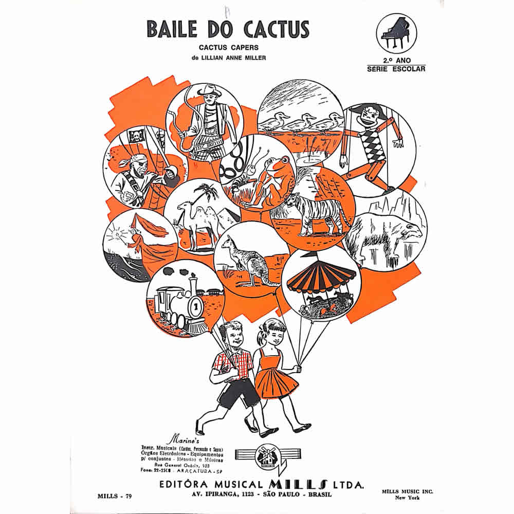 Método Partitura Piano - BAILE DO CACTUS - Lillian Anne Miller