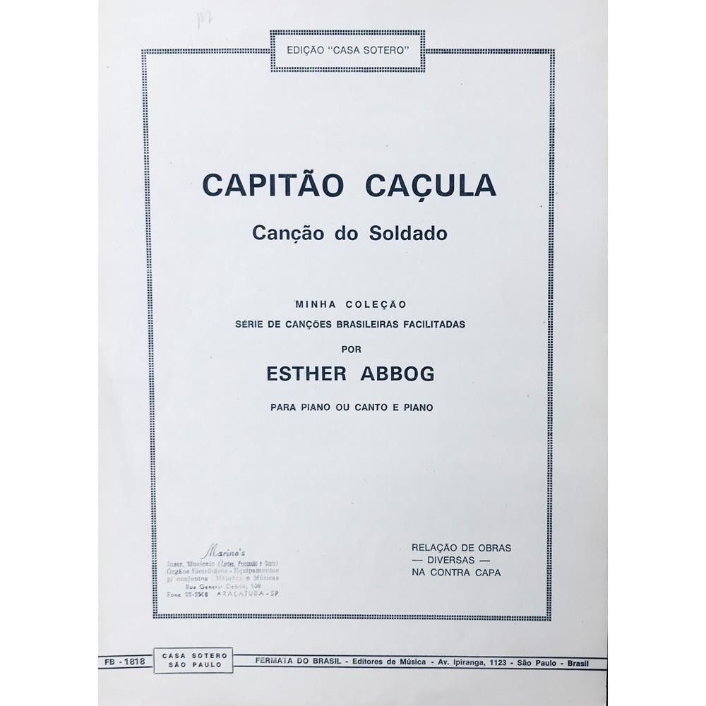Método Partitura Piano - CAPITÃO CAÇULA - CANÇÃO DO SOLDADO - Esther Abbog