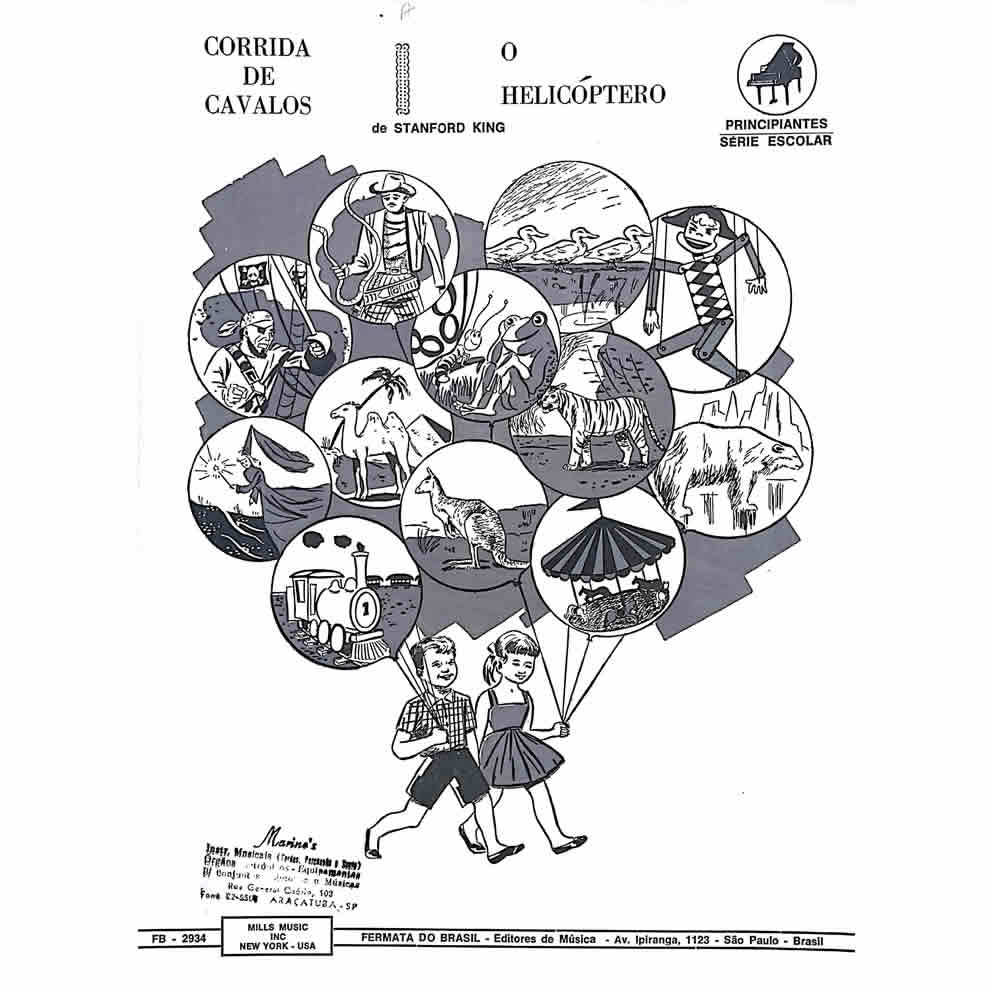 Método Partitura Piano - CORRIDA DE CAVALOS - O HELICÓPTERO - Stanford King