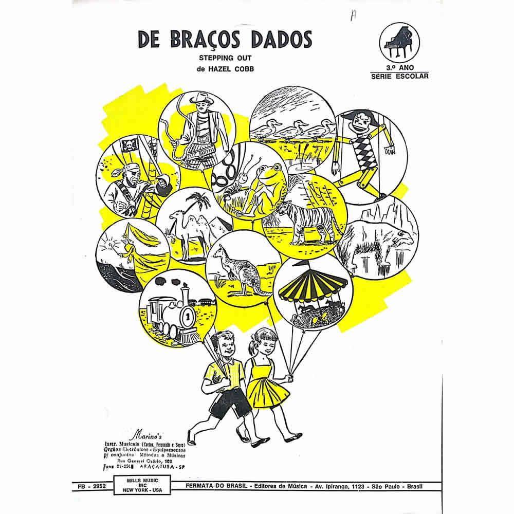 Método Partitura Piano - DE BRAÇOS DADOS - Hazel Cobb