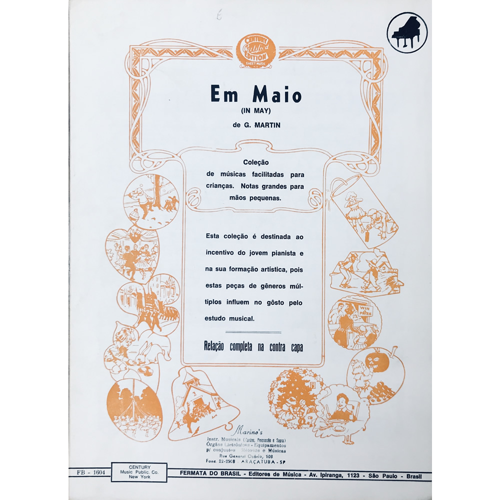 Método Partitura Piano - EM MAIO - G. Martin