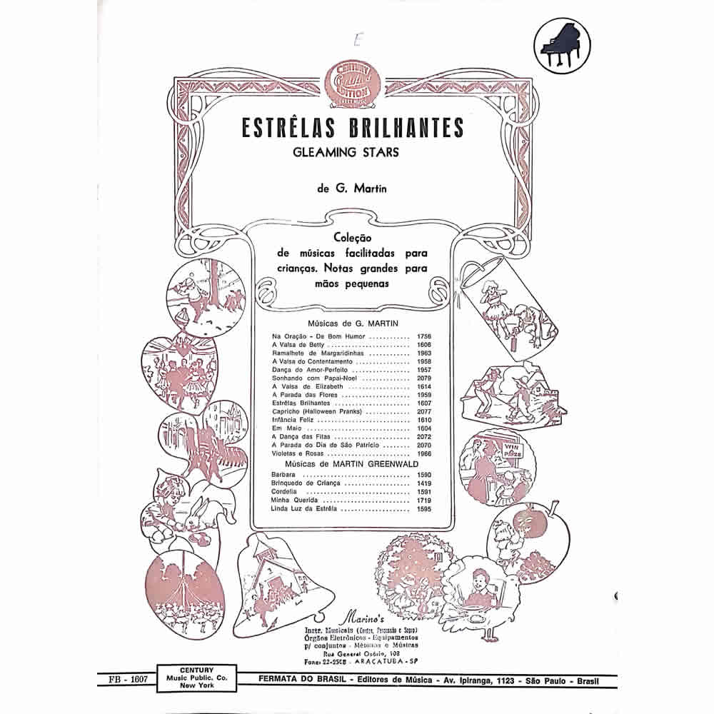 Método Partitura Piano - ESTRELAS BRILHANTES - Gleaming Stars - G. Martin